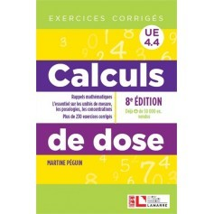 Calculs de dose : exercices corrigés