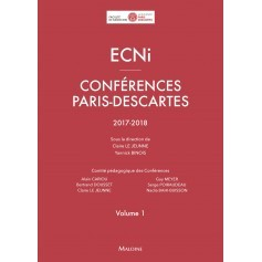ECNi : conférences Paris Descartes 2017-2018, volume 1