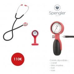 Pack stéthoscope Pulse® + montre infirmière + tensiomètre Mobi®