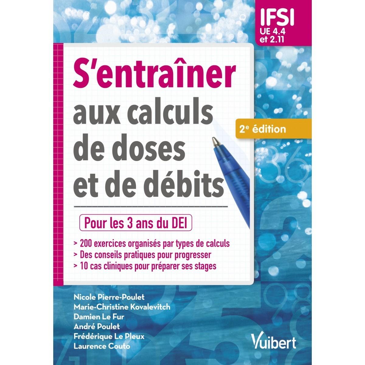 S'entraîner aux calculs de doses et de débits, IFSI, 2020 ...