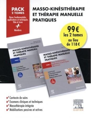 Masso-kinésithérapie et thérapie manuelle pratiques, pack 2 tomes