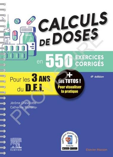 Calculs de doses en 550 exercices corrigés