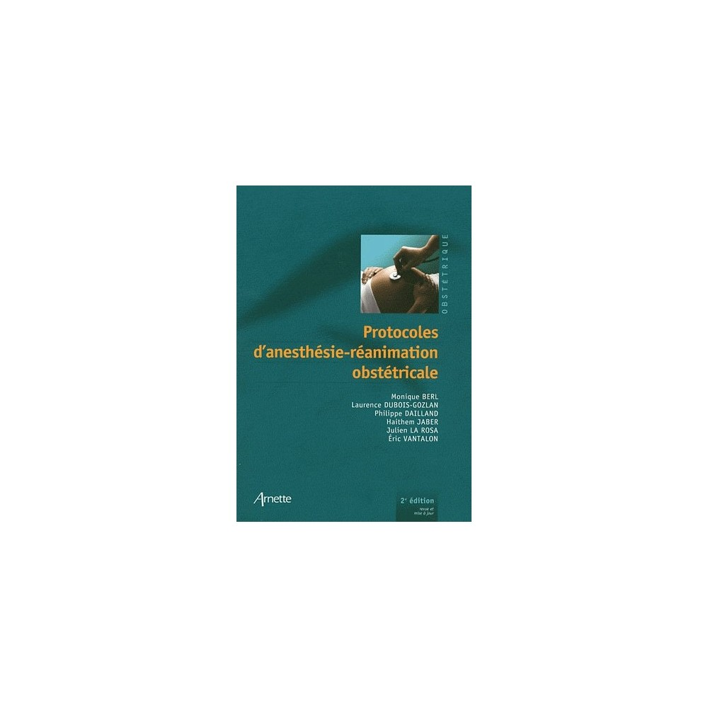 protocoles d u0026 39 anesth u00e9sie