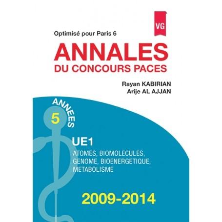 Annales 2009-2014 concours PACES UE1 - Paris 6