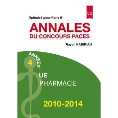 Annales 2010-2014 concours PACES pharmacie - Paris 6