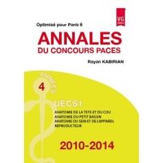 Annales 2010-2014 concours PACES UECS1 - Paris 6