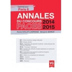 Annales 2014-2015 concours PACES - Paris 6