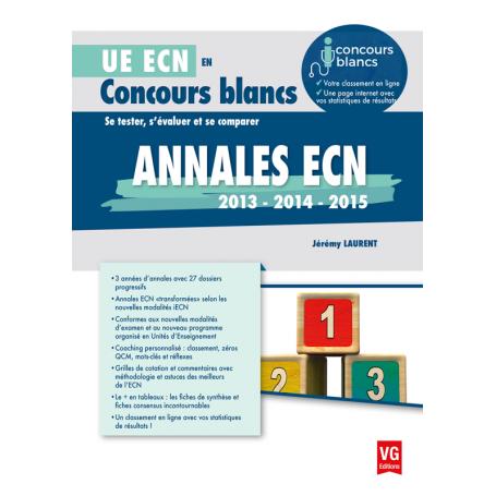 Annales ECN 2013, 2014, 2015