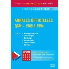 Annales officielles en QCM 1985-1994, tome 1