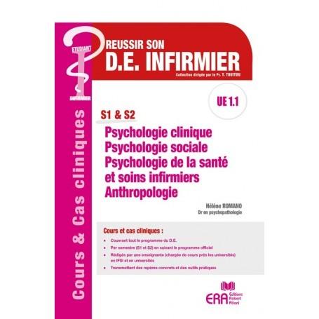 Psychologie clinique, psychologie sociale, psychologie de la santé et soins infirmiers, anthropologie UE 1.1