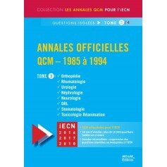 Annales officielles en QCM 1985-1994, tome 3