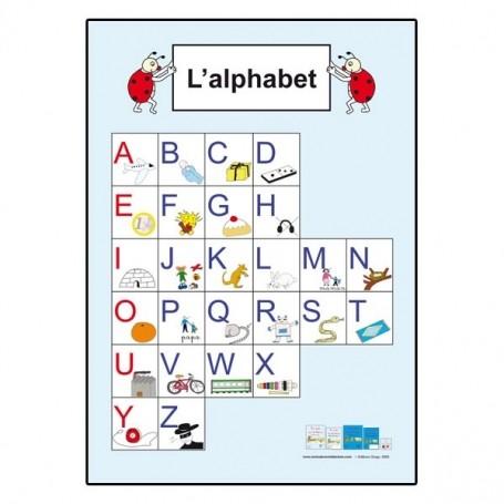 Affiche Alphabet En Majuscule Vg Librairie