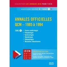 Annales officielles en QCM 1985-1994, tome 2