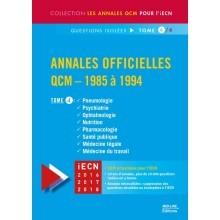 Annales officielles en QCM 1985-1994 - Tome 4
