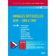 Annales officielles en QCM 1985-1994, tome 4