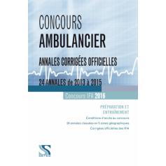 Concours ambulancier : annales corrigées officielles