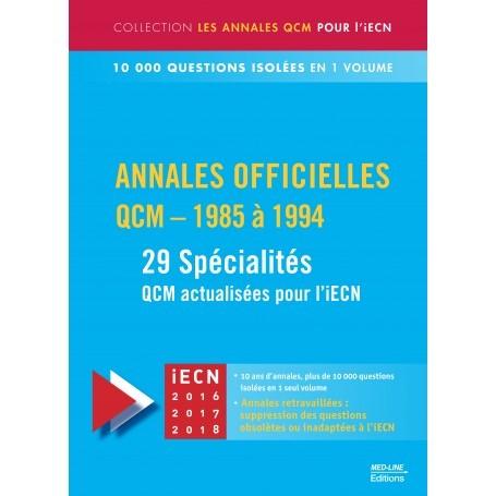 Annales officielles en QCM 1985-1994, 29 spécialités