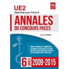 Annales 2009-2015 concours PACES UE2 - Paris 6
