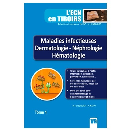 Maladiesinfectieuses, dermatologie, néphrologie, hématologie