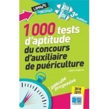 1000 tests d'aptitude du concours d'auxiliaire de puériculture