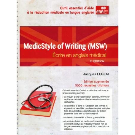 Medicstyle of writing : écrire en anglais médical