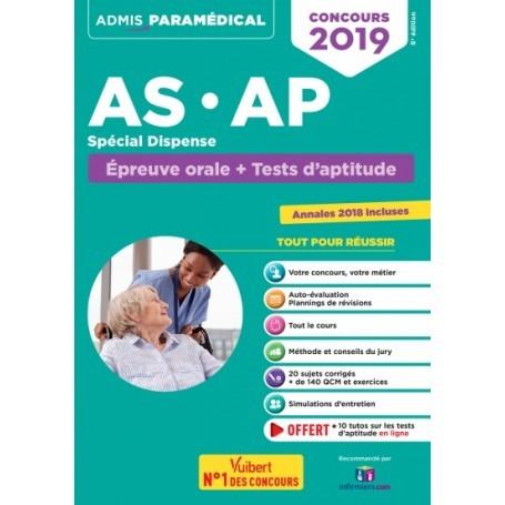 Concour AS/AP : épreuve orale + tests d'aptitude